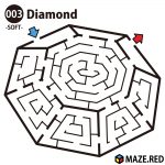 Easy maze of the diamond