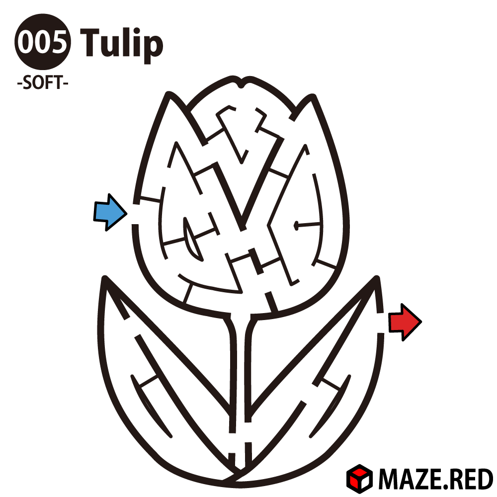Easy maze of the tulip